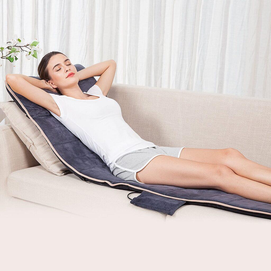 Snailax colchón vibratorio con efecto calor